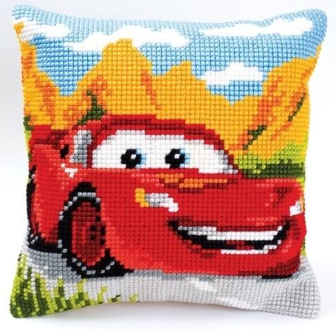 Hip Kussenpakket Cars - Lightning McQueen borduurpakket - borduren kinderkamer