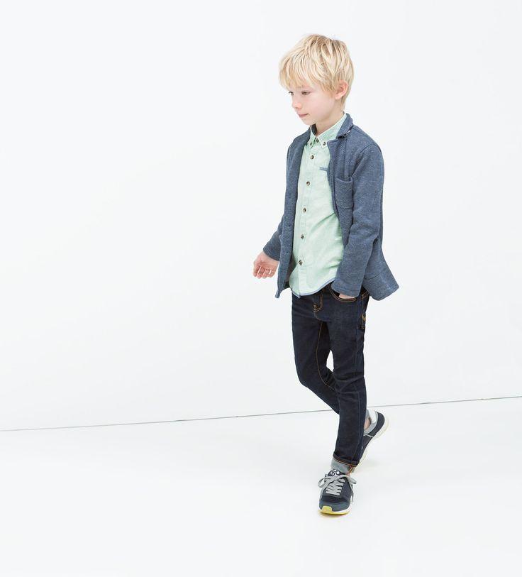 BLAZER JASPEADO DETALLE CUELLO - Cazadoras - Niño (3 - 14 años) - NIÑOS | ZARA España