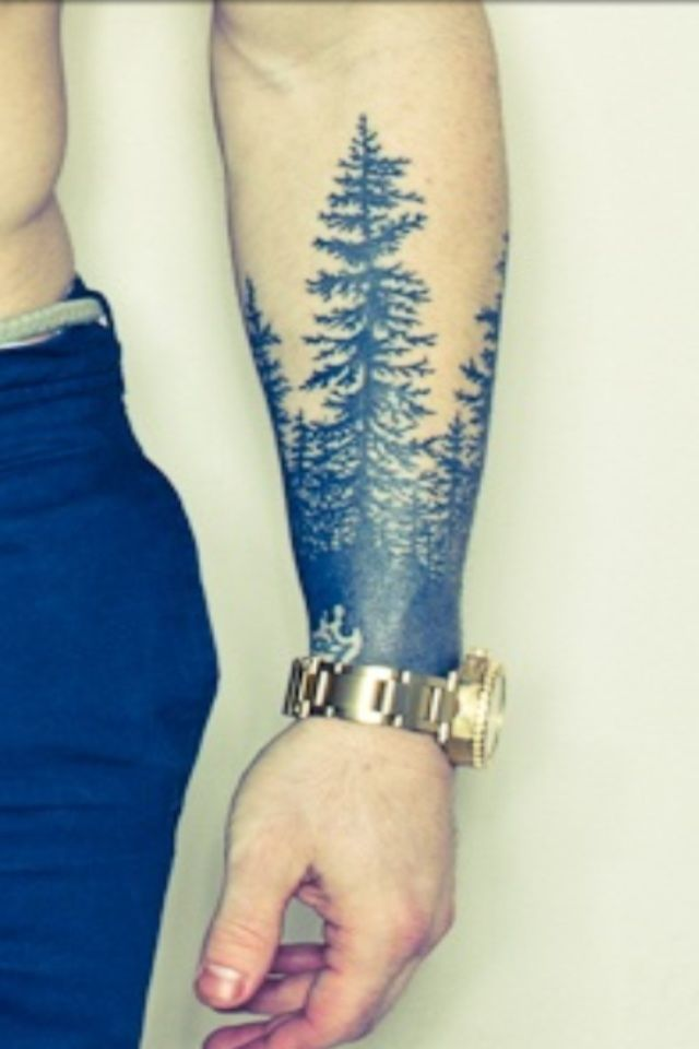 Love Sleeve Tattoo: Tree Sleeve Tattoo For Robert Frost Quote Everyone Who