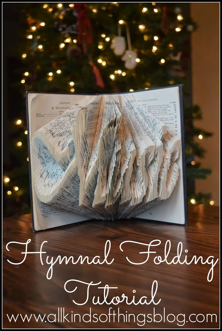 "Hymnal Folding Tutorial - ""Music"" http://www.allkindsofthingsblog.com/2015/03/hymnal-folding-tutorial.html"