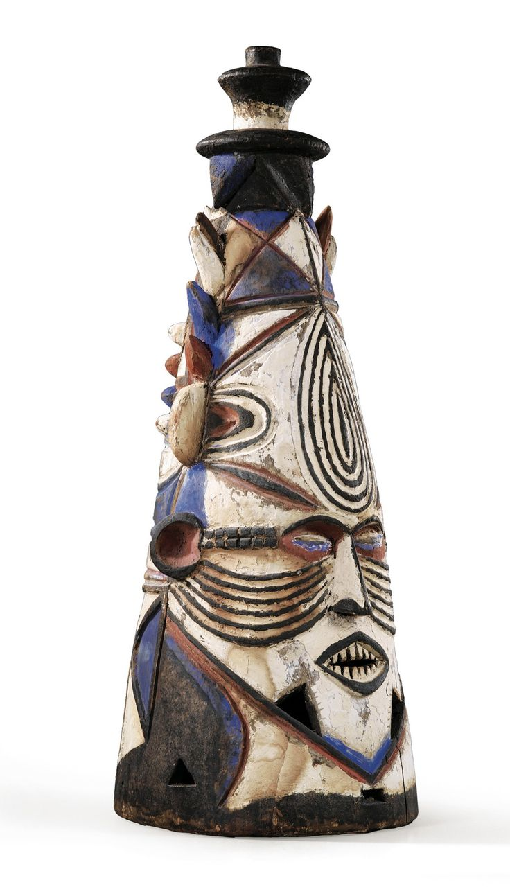 Africa | Mask from the Igbo people of Nigeria | Wood and paint