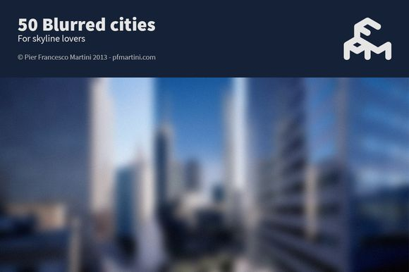 Check out 50 Blurred cities by MARTINI Type Designer on Creative Market