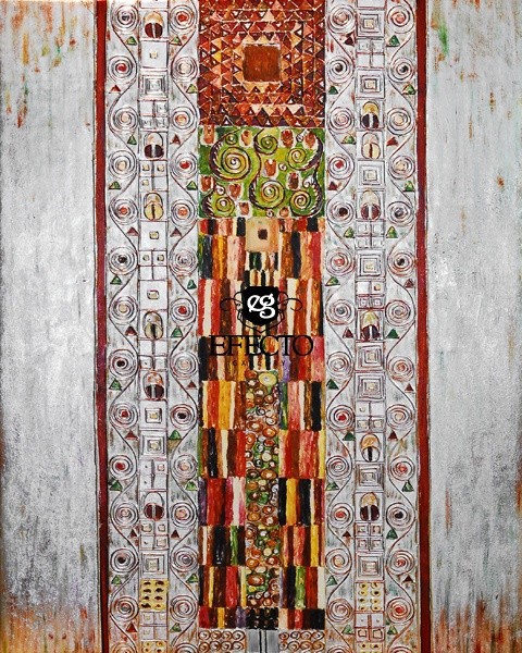 Gustav Klimt - Collage  srebrny