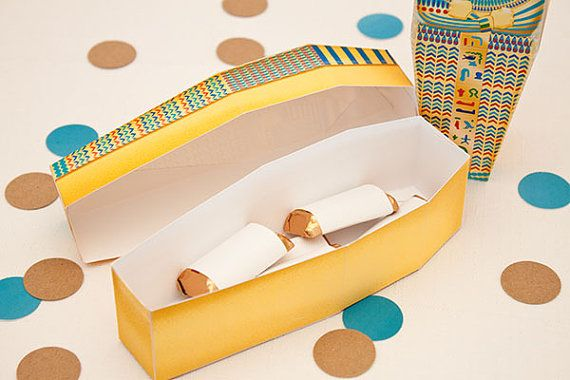 Egyptian Sarcophagus Favor Box : DIY Printable by PiggyBankParties