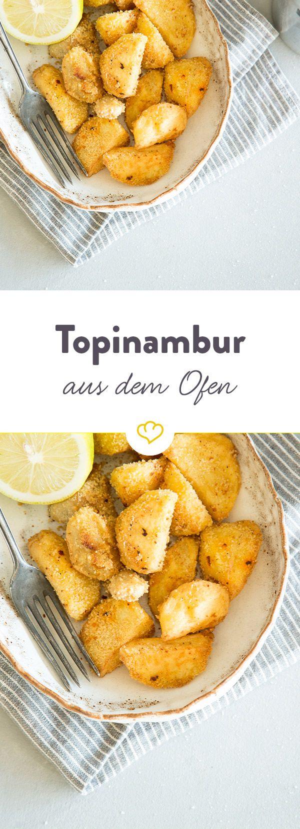 Diese knusprigen Topinambur aus dem Ofen sind die ideale Beilage auf deinem Teller und eine würzige Abwechslung zu Kartoffeln und Co.