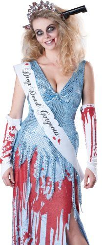 in character zombie prom queen scary beauty pageant halloween costume large - Pageant Girl Halloween Costume