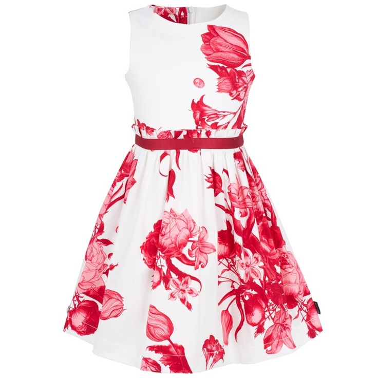 Raspberry Floral Dress, love the color and pattern, perfect for spring or summer