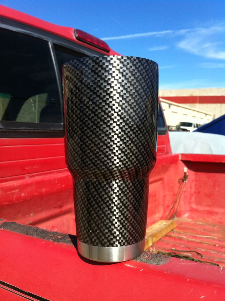 30 Oz Yeti Rambler Hydrographed In Quot Carbon Fiber Quot Directly