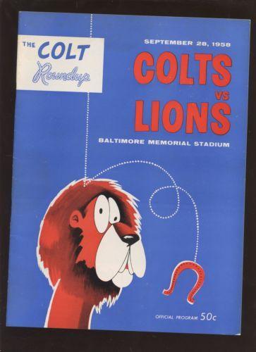 September-28-1958-NFL-Football-Program-Detroit-Lions-at-Baltimore-Colts-EXMT