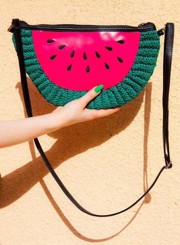 Watermelon H & M Purse. It's just summer-y and cute :)