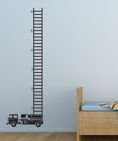 Take a look at this Belvedere Designs Black Fire Truck Growth Chart Wall Decal by Ready, Set, Go: Kids' Décor on #zulily today!