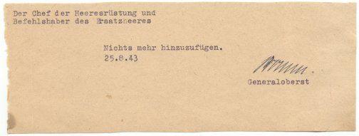 Generaloberst Friedrich Fromm (1888 - 1945)