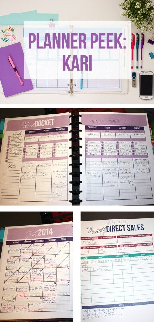 business planners and organizers