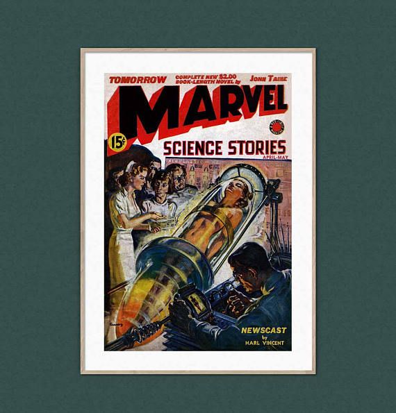 Marvel Superhero Science Stories Vintage Retro Naked Woman