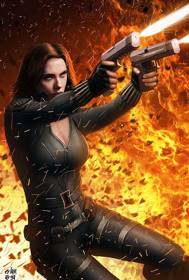 Black Widow. Wait...this isn't a picture...someone is very talented in the art fields!!!!!