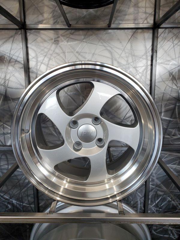Close Out Limited Quantities 15 8 4 100 Et20 Silver Wheels With Lip Fithonda Civic Crx Mazda Miata Versa Vw4 Lug For Sale In Tempe Az Offerup Mazda Miata Wheels And Tires Miata