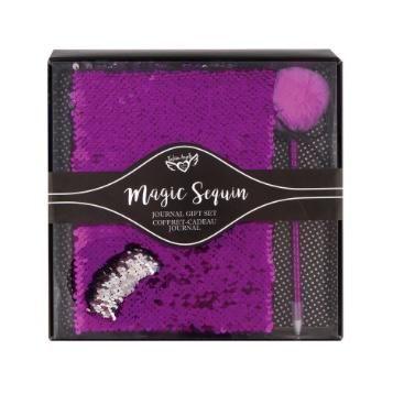 Journal Gift Set in Purple  Magic Sequin Journal and Pen Set