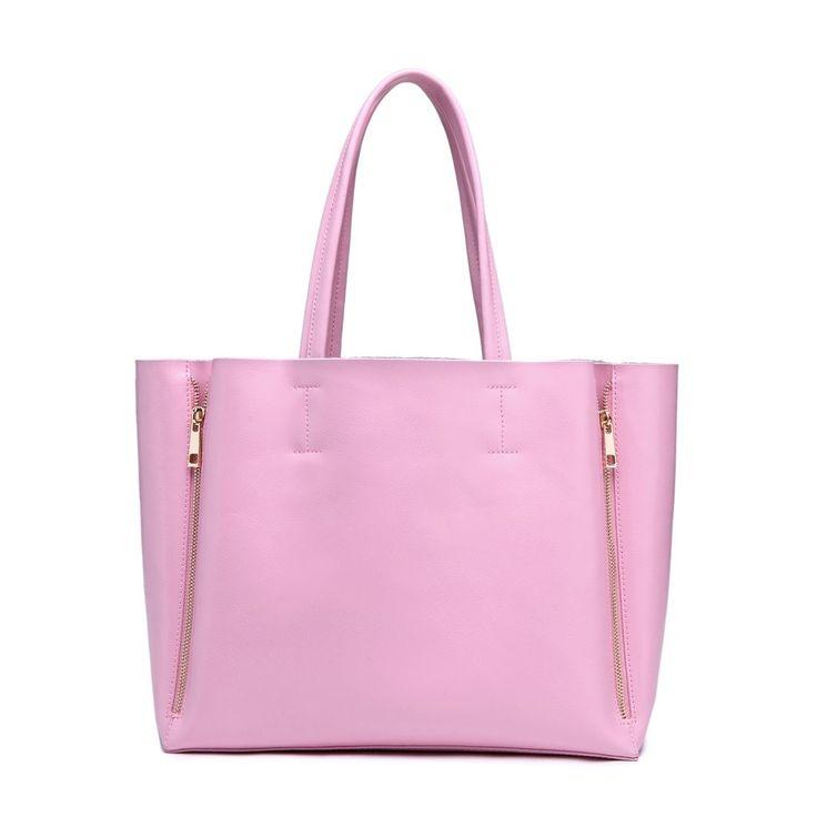 Tess Genuine Leather Ingrid #Tote – Pastel #Pink #pinkpurse