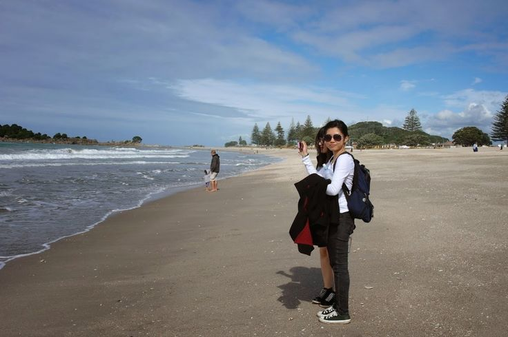 my friend, the beach and me