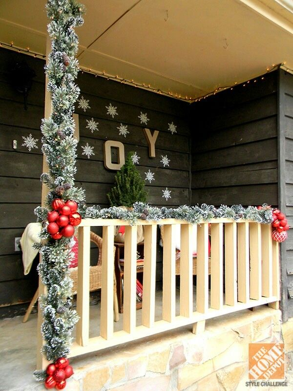 240 best the christmas balcony images on pinterest merry for Decorating a small balcony for christmas