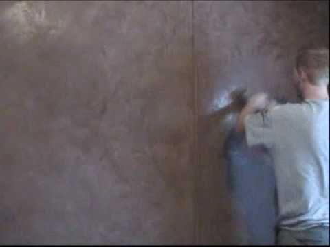 Venetian Plaster:  How to video.