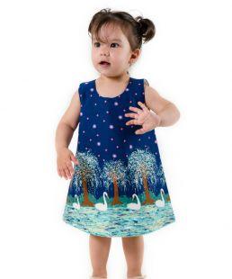 Baby girl Swan dress summer kids clothing elegant summer dresses