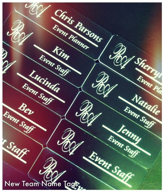 What do you think of our new #RareAffairs Name Tags? #Event tip #1...know your name! ;) #Eventprofs #Vancouver