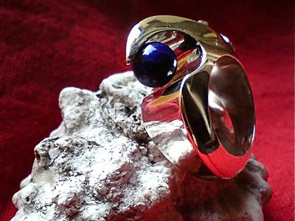 Ivka Markovic | Intermediate to Advanced | Jewelry Course Florence - silver, brass, lapis lazuli and cubic zirconia