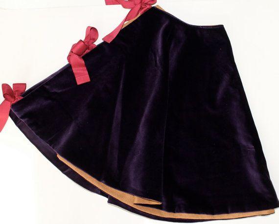 Purple Velvet Tree Skirt 2