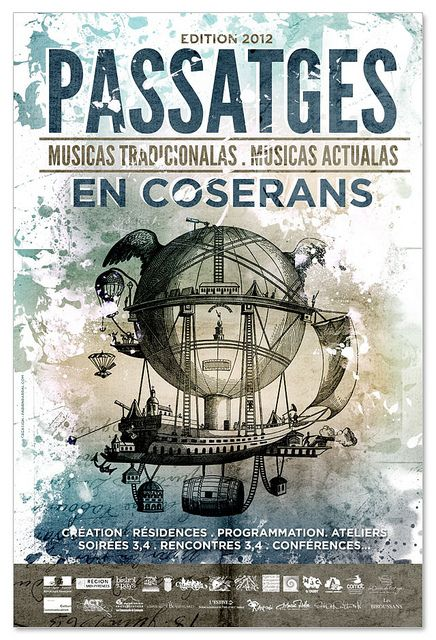 Passatges 2012 poster by Fabien Barral www.mr-cup.com