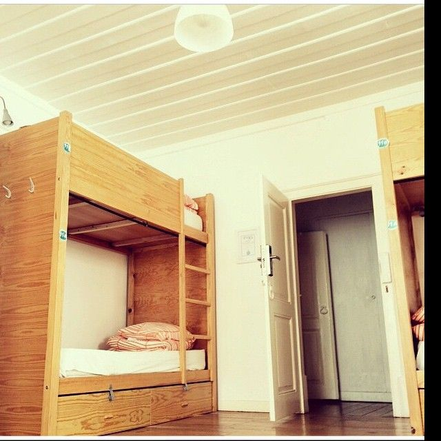 Female  8 beds dorm with a lot of natural light; electronic door locks; locks under bed;