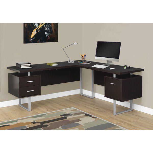 Latitude Run Darroll L Shape Corner Desk Reviews Wayfair L Shaped Corner Desk Corner Computer Desk Corner Desk