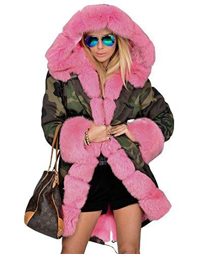 Attention:The reason for packaging compression,When you receive the clothes, please hang up the clothes, so that Faux fur release its original fluffy look,  this takes 2 days,It's will show great results Same as pics. Faux fur has a Color:little bit of color difference due to the color of l...  More details at https://jackets-lovers.bestselleroutlets.com/ladies-coats-jackets-vests/fur-faux-fur/product-review-for-roiii-womens-hooded-camouflage-warm-winter-coats-faux-f