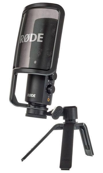 Microphone à condensateur USB  Qualité studio pour le bureau, Interface audio intégrée, résolution: 16 bit / 48 kHz, Diagramme polaire: cardioïde, Classe conforme pour Mac et PC, Compatible iPad (Nécessite le Kit de connexion camera d'Apple en...