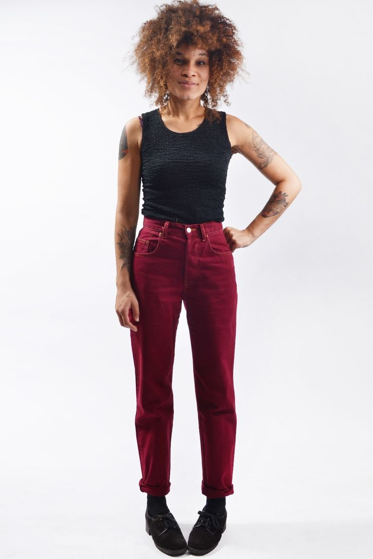 1990s red jeans #doortjevintage
