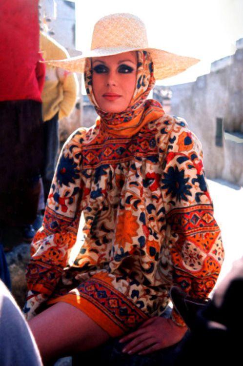 Joanna Lumley (Muse to British designer jean muir)