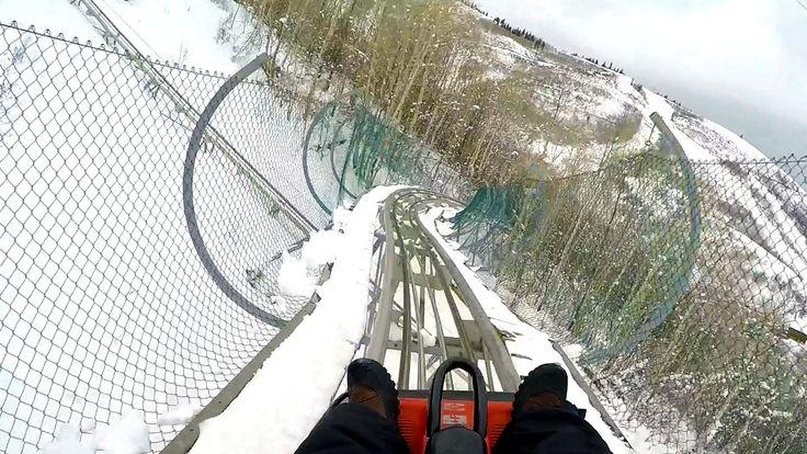 YES!  ||  Park City Alpine Coaster POV Roller Coaster in the SNOW Utah Ski Resort
