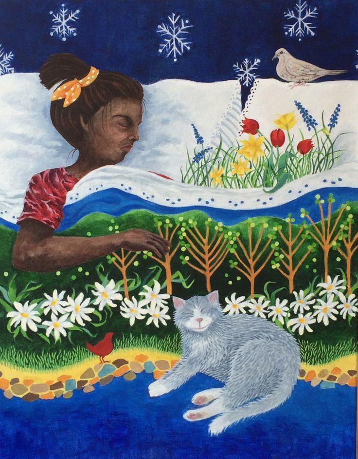 """""""dream on, hibernators"""" acrylic on canvas"""