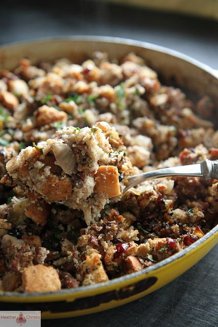 ... Stuffing on Pinterest   Bacon, Cornbread stuffing and Cranberry