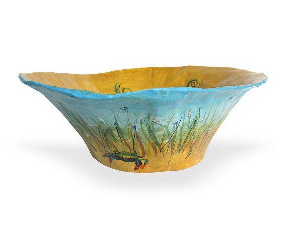 Blue crab decorative bowl. Bathroom decor bowl. by PaperPrezzies