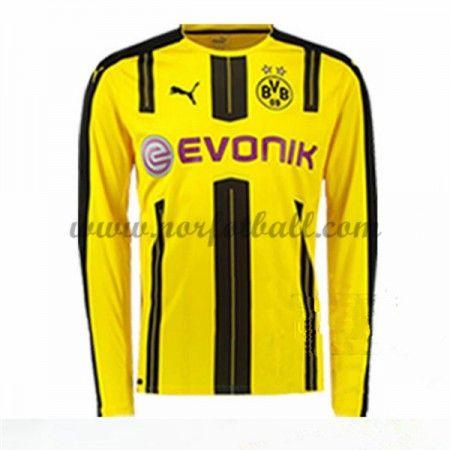 Billige Fotballdrakter BVB Borussia Dortmund 2016-17 Hjemme Draktsett Langermet