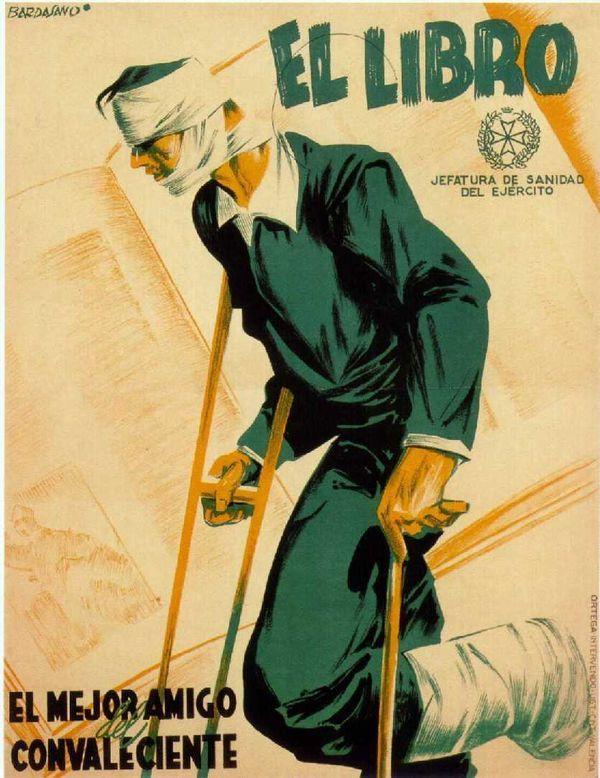 Jose Bardasano, El libro Spanish Civil War poster