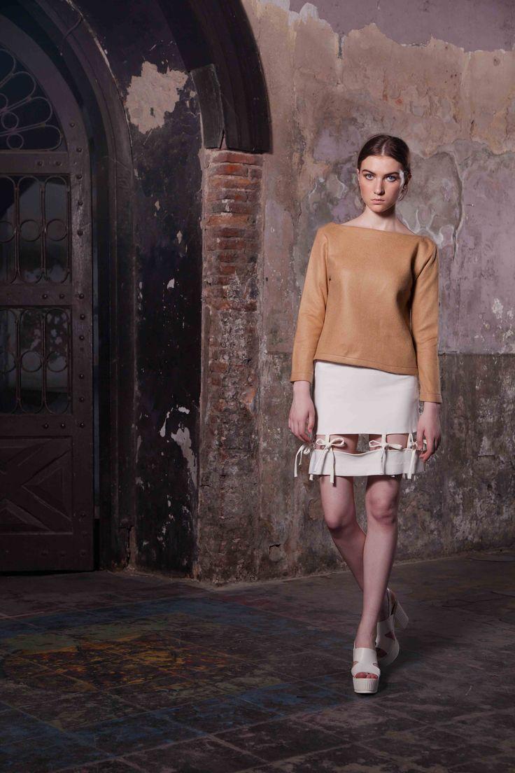 Coton Détails En Cuir Faux Court Pantalon Mode De Luxe Pretacouture sd8B8JJ