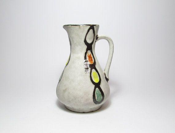 Vintage Vase Flower Jug Vase Jasba 318 WGP Vase West by PeteStop