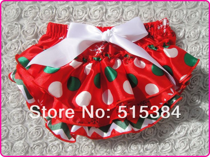 wholesale christmas bloomers for babies white green dots red toddler ruffle bloomers 3layers12pcs/lot free shipping