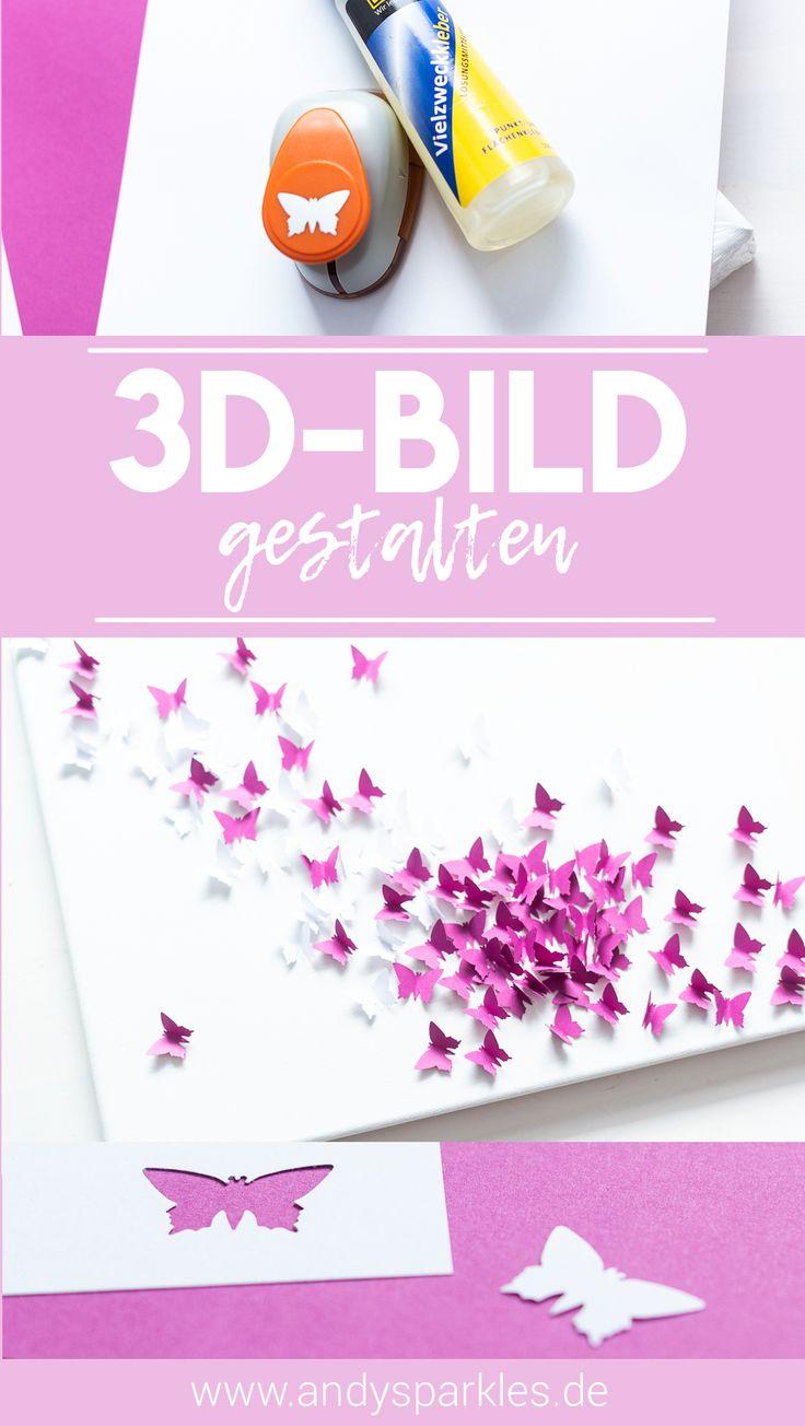 Basteltipp: 3D-Bild mit Schmetterling selbst machen