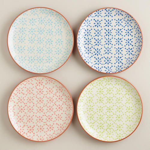 One of my favorite discoveries at WorldMarket.com: Woodblock Plates, Set of 4