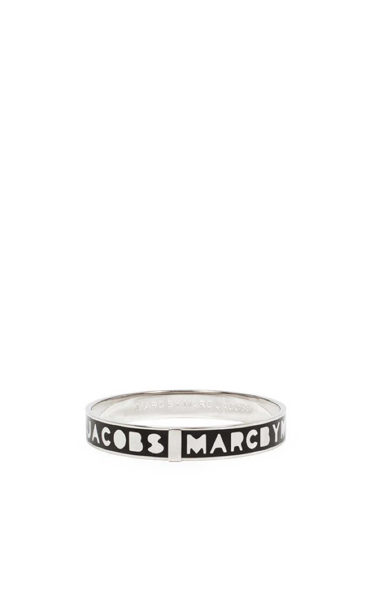 Armband Logo Bangle BLACK/SILVER - Marc by Marc Jacobs - Designers - Raglady