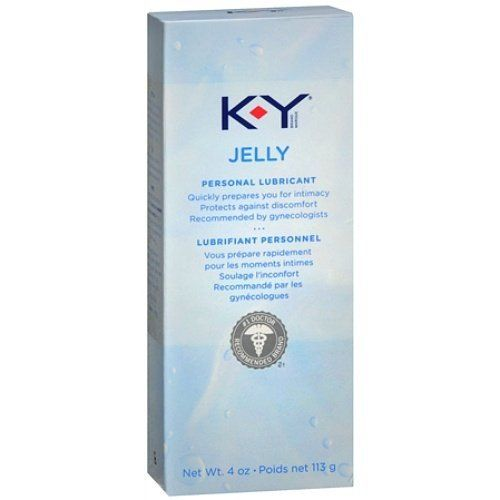 KY JELLY LUBRICATE 4 oz J&J CONSUMER SECTOR. K-Y Jelly, Personal Lubricant is also eases insertion of rectal thermometers, enemas, and tampons. K-Y Brand Jelly safely replaces personal moisture in a way that feels natural and helps enhance intimacy. K-Y Lubricting Jelly condoms and is recommended for personal lubrication when vaginal dryness causes discomfort. Unlike petroleum jelly, K-Y Brand Jelly is compatible with condoms and rinses off easily. Size.