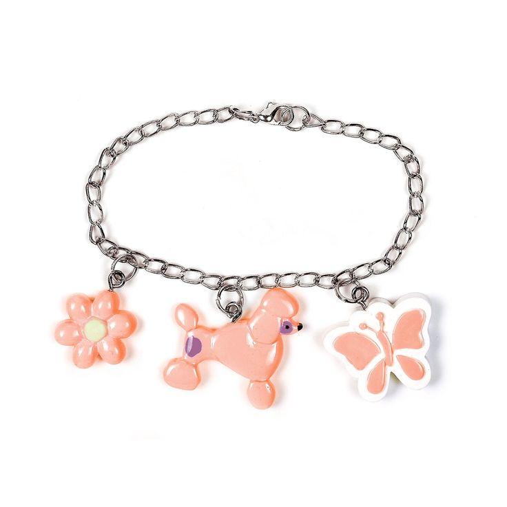 Pink Poodle Charm Bracelet, 57127